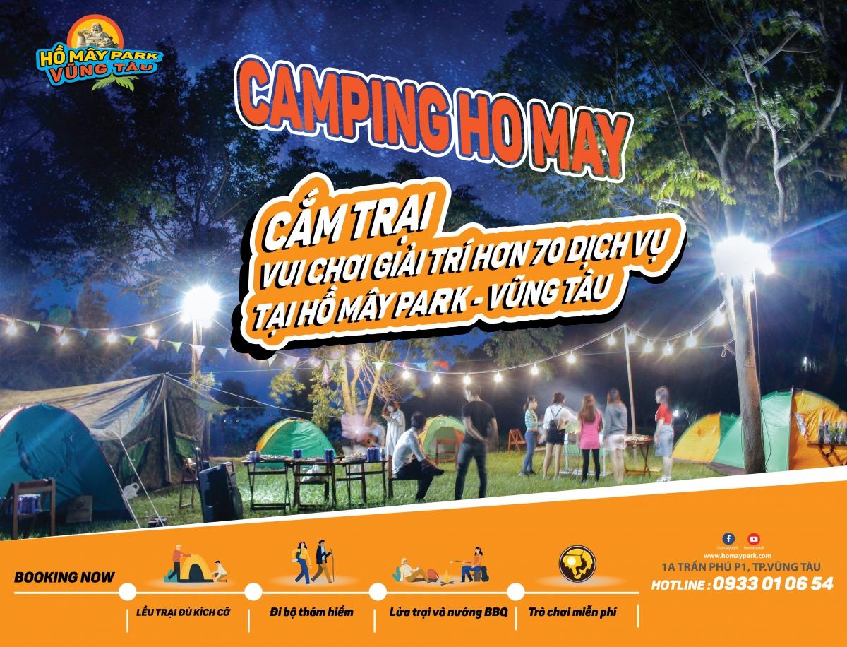 Dịch vụ cắm trại qua đêm tại Hồ Mây Park - Vũng Tàu